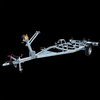 Single axle nautical equipment trailer
